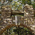 Stone Archway At The Entrance by Todd Gipstein