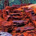 Stone Steps in Autumn Print by Jeff Kolker