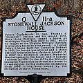 Stonewall Jackson House by Todd Hostetter