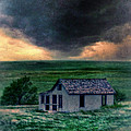 Storm Over Abandoned House by Jill Battaglia