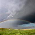 Storm Rainbow Prairie by Ryan McGinnis