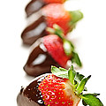 Strawberries Dipped In Chocolate by Elena Elisseeva