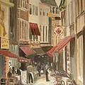 Street Scene In Brussels by Veronica Coulston