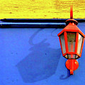 Streetlamp With Primary Colors by by Felicitas Molina