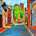 Streetscape in Federal Hill Print by Stephen Younts