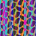 Stripe Beans Print by Louisa Knight