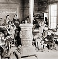 Students In A One-room School by Everett