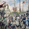 Study for Le 14 Juillet 1880 Print by Alfred Roll