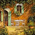 sul patio Print by Guido Borelli