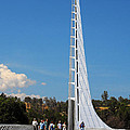 Sundial Bridge - This Bridge Is A Glass-and-steel Sculpture by Christine Till