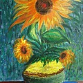 Sunflower In A Vase by Prasenjit Dhar
