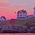 Sunrise Nubble Lighthouse by Dale J Martin