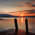 Sunrise Over Keuka III Print by Steven Ainsworth