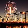 Sunset And Fireworks by Deborah  Crew-Johnson
