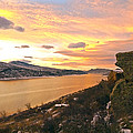 Sunset At Horsetooth Dam Co. by James Steele
