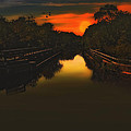 Sunset At The Old Canal by Tom York Images