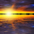 Sunset By The River by Svetlana Sewell