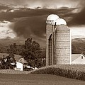 Sunset On The Farm S Print by David Dehner