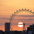 Sunset Viewed Through The London Eye by Photograph by Lars Plougmann