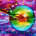 Surfing Cyberspace Print by Mehau Kulyk