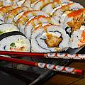 Sushi And Chopsticks by Carolyn Marshall