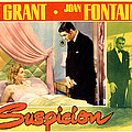 Suspicion, Joan Fontaine, Cary Grant by Everett