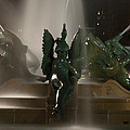 Swann Fountain At Night by Bill Cannon
