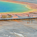 Taking A Stroll At Yellowstone's Grand Prismatic by Bruce Gourley