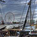Tall Ships At Navy Pier by David Bearden