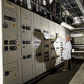 Technician With Air Conditioning Units Print by Tek Image