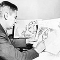 Ted Geisel Dr. Seuss 1904-1991 At Work by Everett