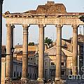 Temple Of Saturn In The Forum Romanum. Rome by Bernard Jaubert