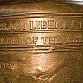 Text On The Liberty Bell by Tim Laman