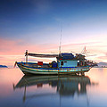 Thai fishing boat Poster by Teerapat Pattanasoponpong
