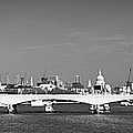 Thames panorama weather front clearing BW Print by Gary Eason