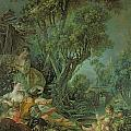 The Angler Print by Francois Boucher