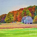 The Barn In Autumn by Michael Garyet
