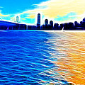 The Bay Bridge And The San Francisco Skyline . Panorama by Wingsdomain Art and Photography
