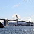 The Bay Bridge and The San Francisco Skyline Viewed From Treasure Island . 7D7778 Print by Wingsdomain Art and Photography