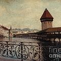 The Chapel Bridge In Lucerne Switzerland by Susanne Van Hulst