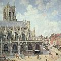 The Church Of Saint Jacques In Dieppe by Camille Pissarro