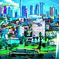 The City of Angels Print by Romy Galicia