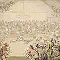 The Dog Fight by Thomas Rowlandson