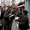 The Flower Seller Print by Lori  Secouler-Beaudry