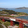 The Golden Gate Bridge North Side Overlooking Angel Island And Tiburon And Horseshoe Bay . 7d14494 by Wingsdomain Art and Photography