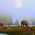 The Menagerie . Painterly by Wingsdomain Art and Photography