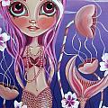 The Mermaid's Garden Print by Jaz Higgins