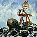 The monster of Serrana Cay Print by Graham Coton