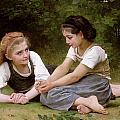 The Nut Gatherers Print by William-Adolphe Bouguereau