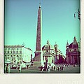 The Piazza Del Popolo. Rome by Bernard Jaubert